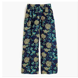 J. Crew Wide Leg Floral Cropped Pant